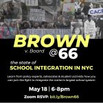 Join us on May 18 for a Town Hall on the state of School Integration in NYC!