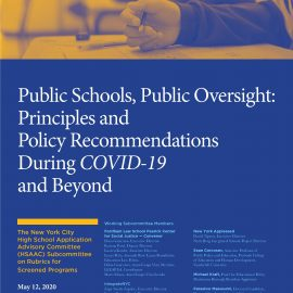 Guidance on New York City's Screened High Schools During COVID-19